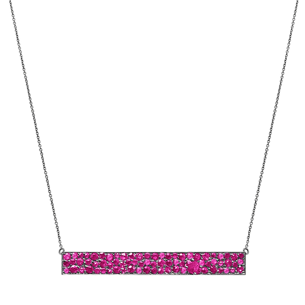 Stardust Necklace Silver Ruby