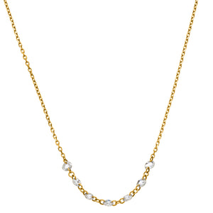 "Lolo Necklace 16"" Yellow Gold Rose Cut Diamond"