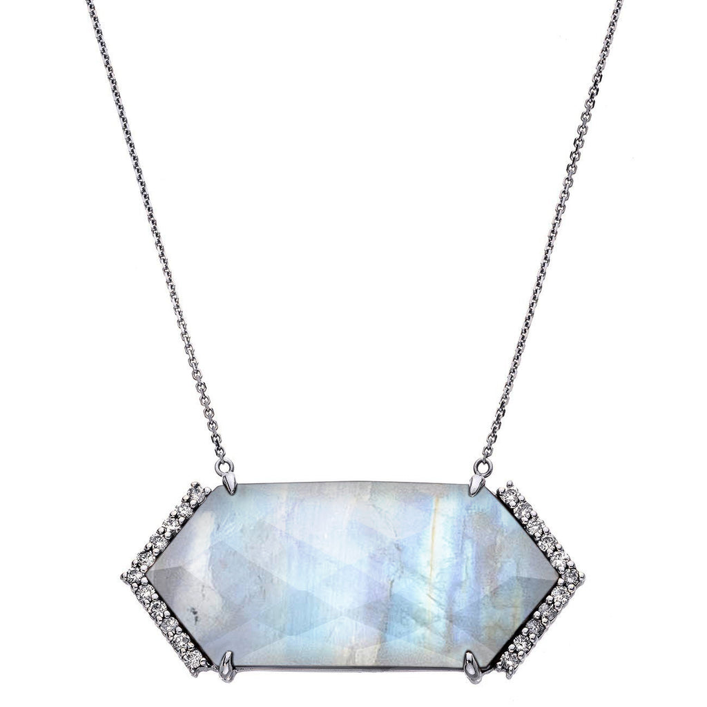 Hayden Necklace Silver Moonstone