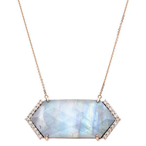 Hayden Necklace Rose Gold Moonstone