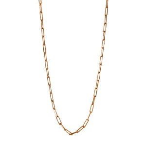 Paper Clip Chain Rose Gold