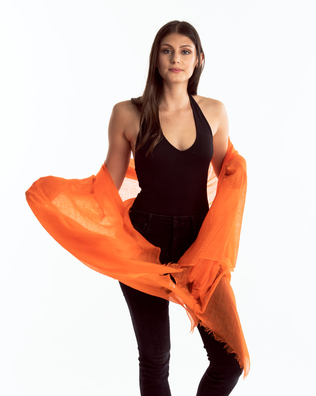 Lauren Cashmere Wrap Orange