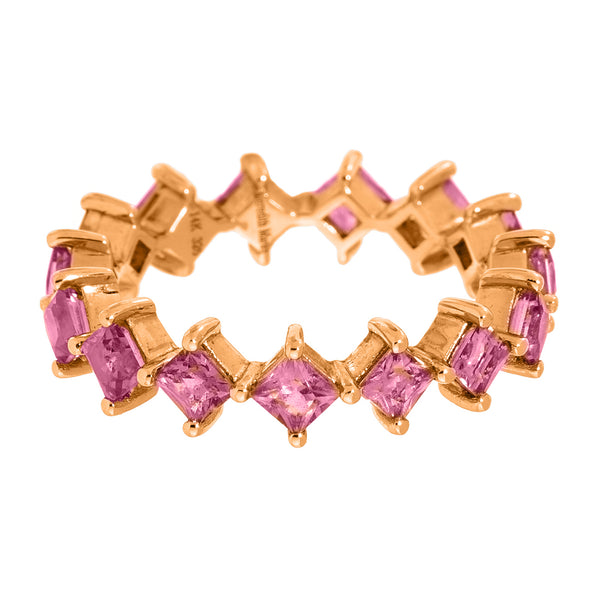 Jo Band Rose Gold Pink Sapphire
