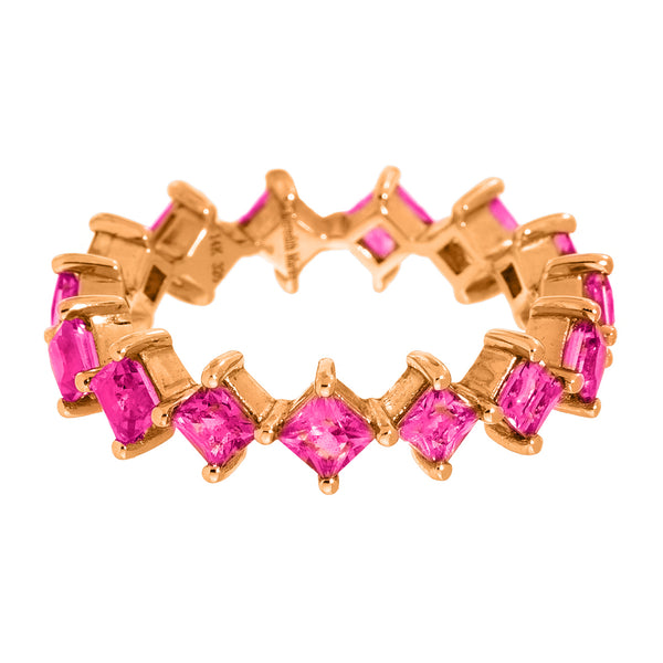 Jo Band Rose Gold Ruby