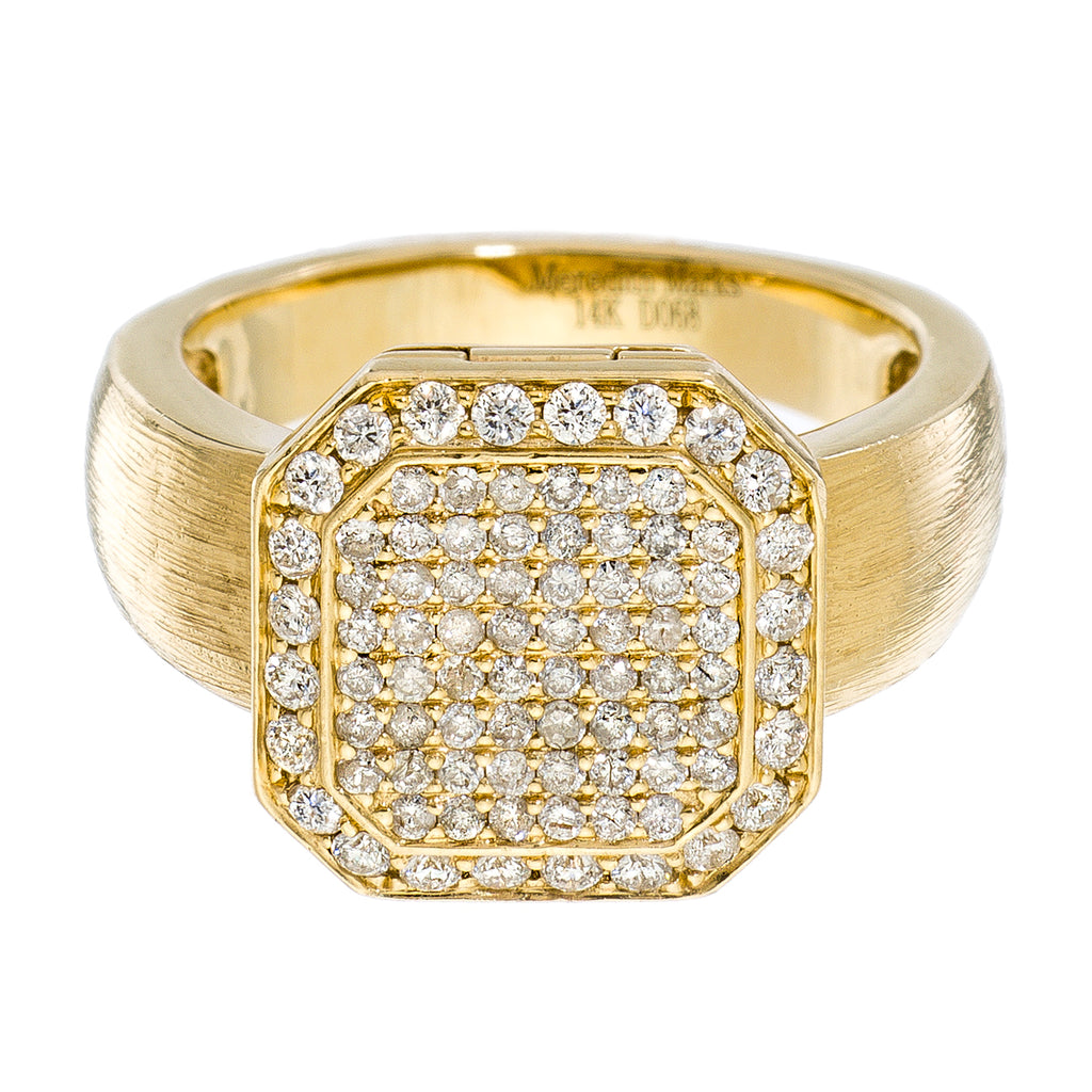 Poison Ring Small Full Pavé Yellow Gold