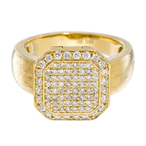 Poison Ring Petite Full Pavé Yellow Gold