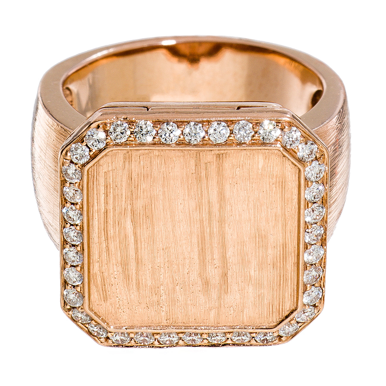 Poison Ring Small Pavé Outline Rose Gold