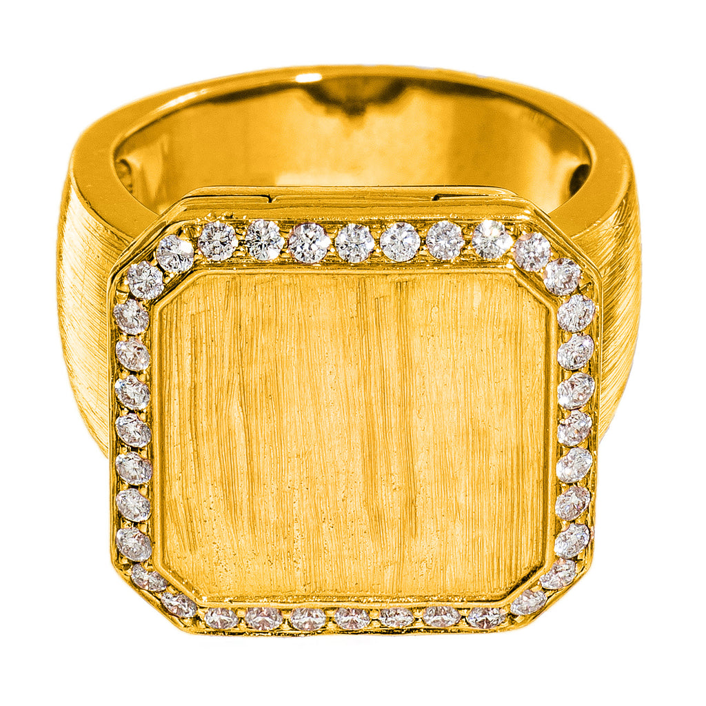 Poison Ring Small Pavé Outline Yellow Gold