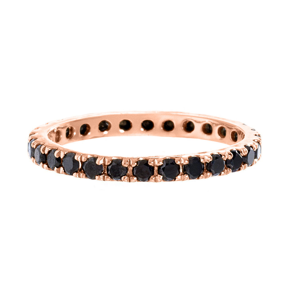 Josephine Band Rose Gold Black Diamond 2mm