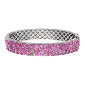 Stardust Bangle Silver Pink Sapphire