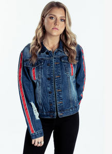 Delilah Denim Jacket Red
