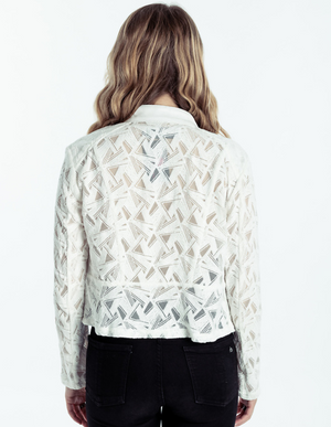 Leather & Lace Jacket White