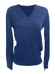 V-neck Cashmere Sweater Midnight