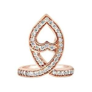 Mia Navette Ring Rose Gold