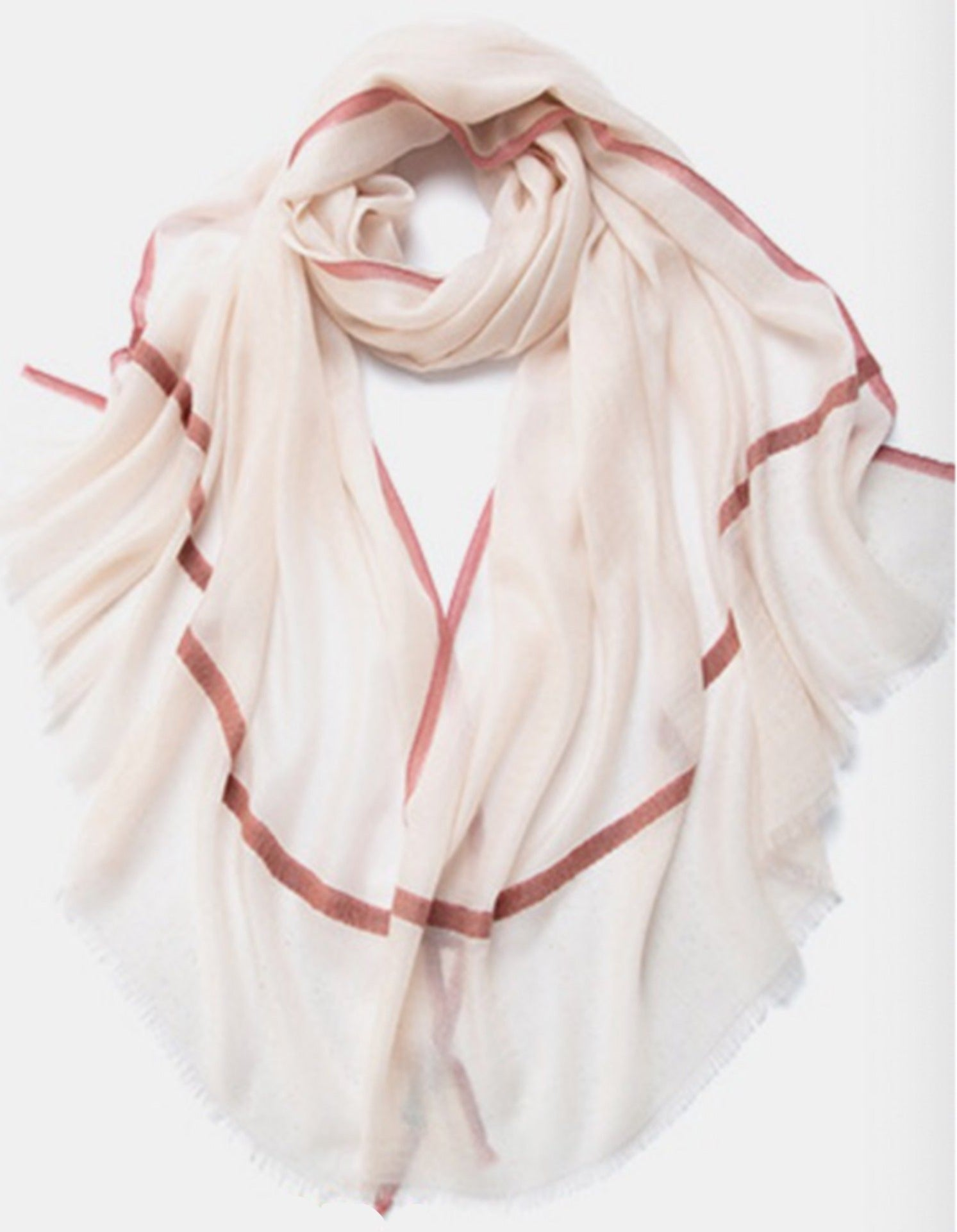 Camille Cashmere Shawl Blush and Pink