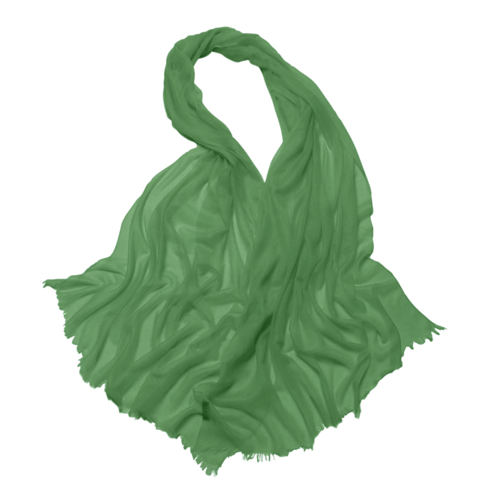 Lauren Cashmere Wrap Forest Green