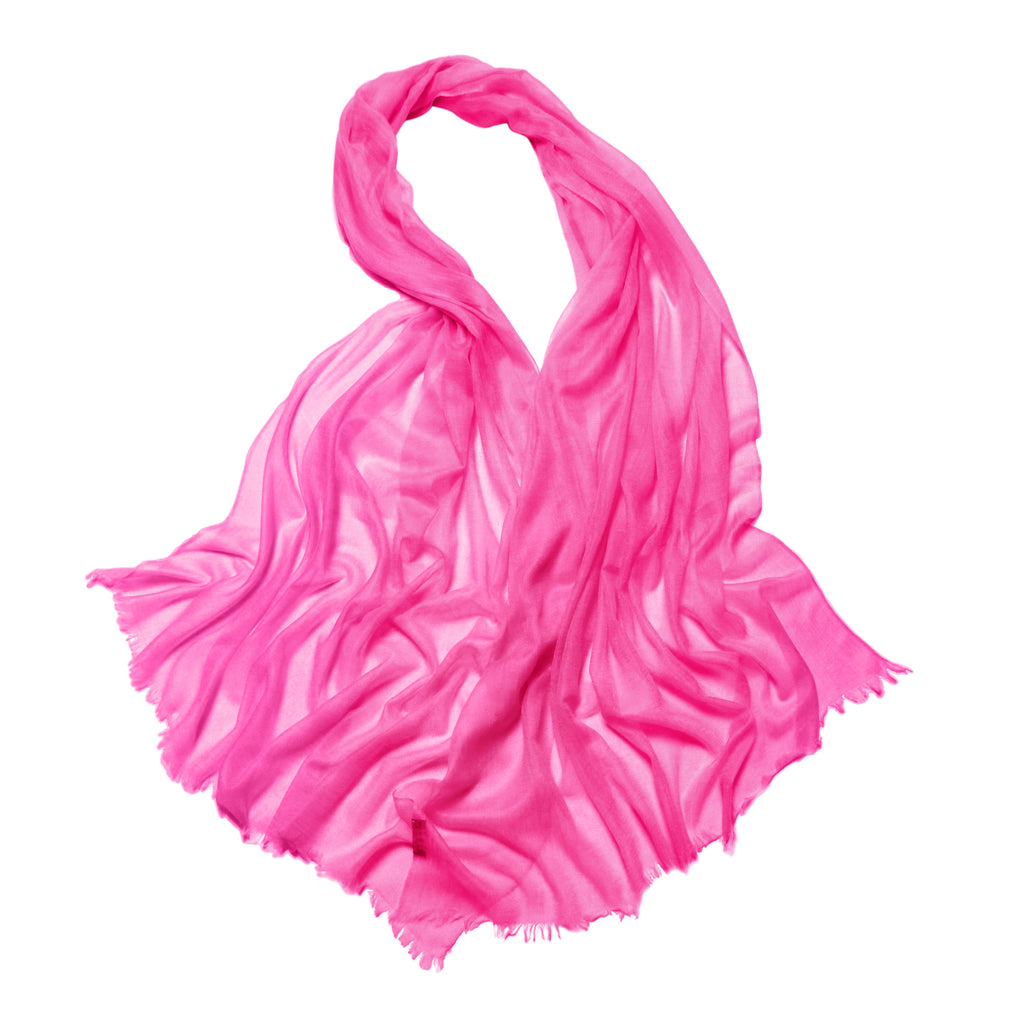 Lauren Cashmere Wrap Hot Pink