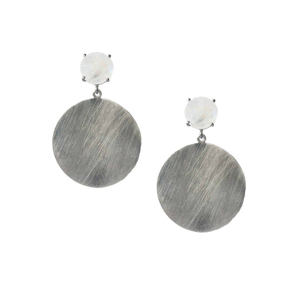 Anna 12mm Earrings Silver Moonstone
