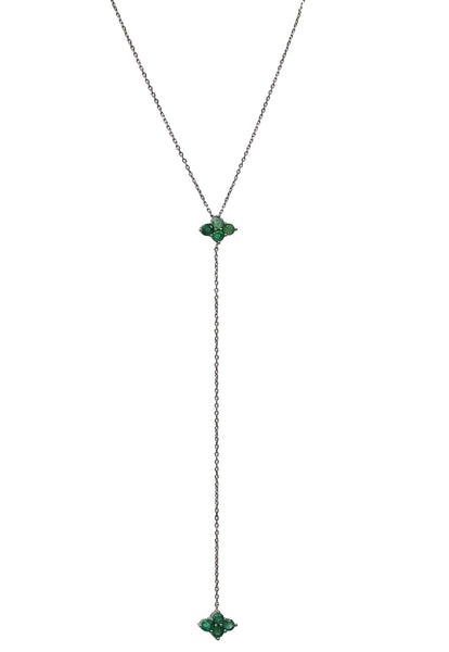 Asher Lariat Silver Emerald