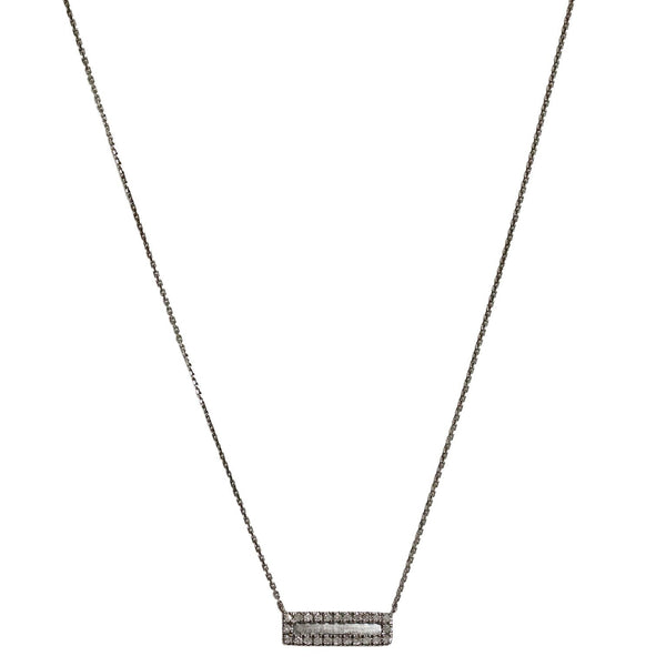 Hollie Mini Horizontal Necklace Silver