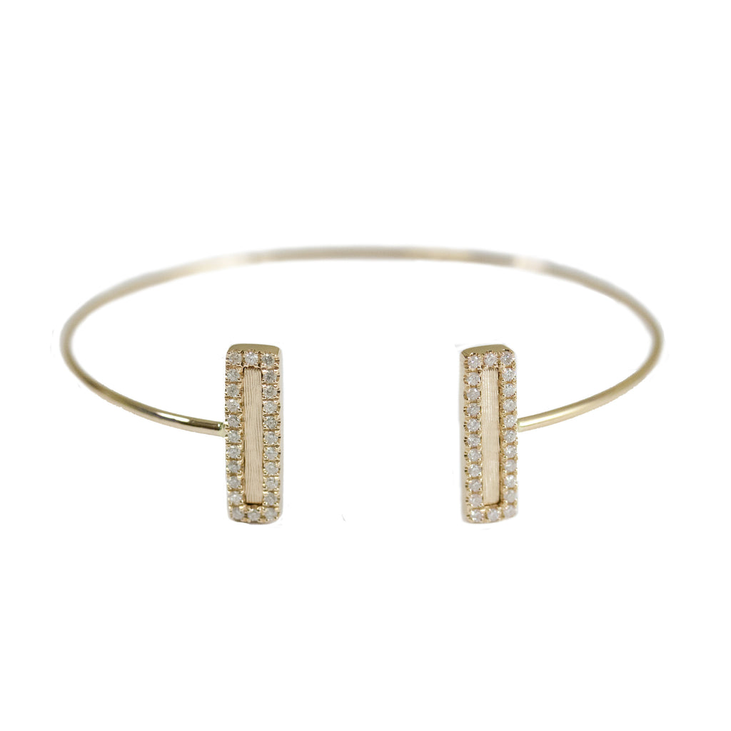 Hollie Double Mini Cuff Yellow Gold