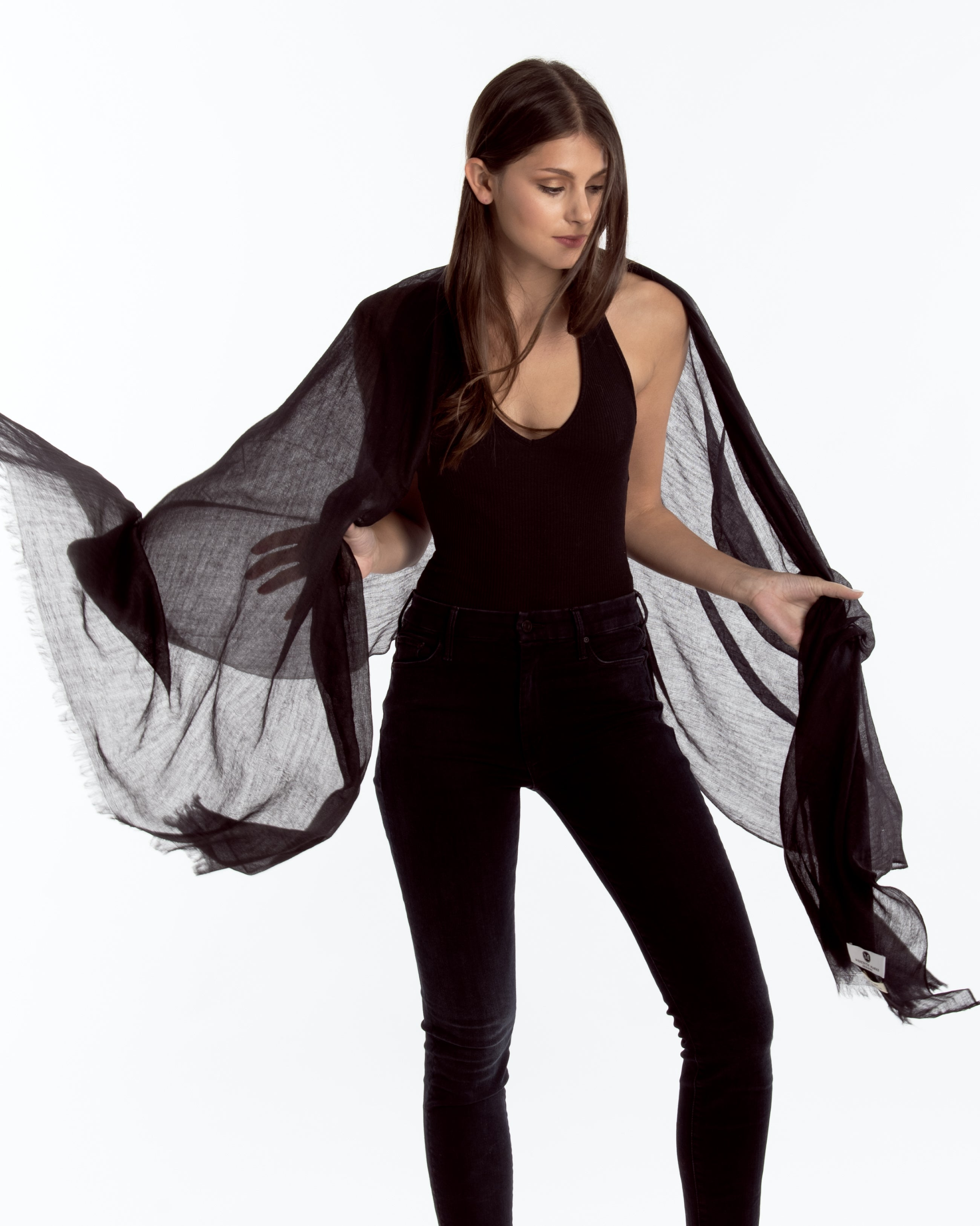 Lauren Cashmere Wrap Black