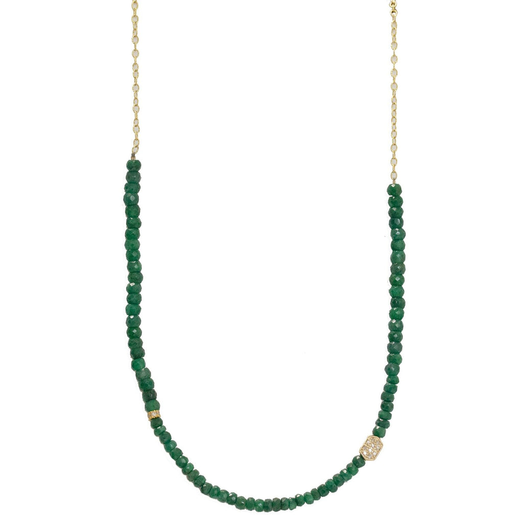 Nicolette Necklace Yellow Gold Emerald