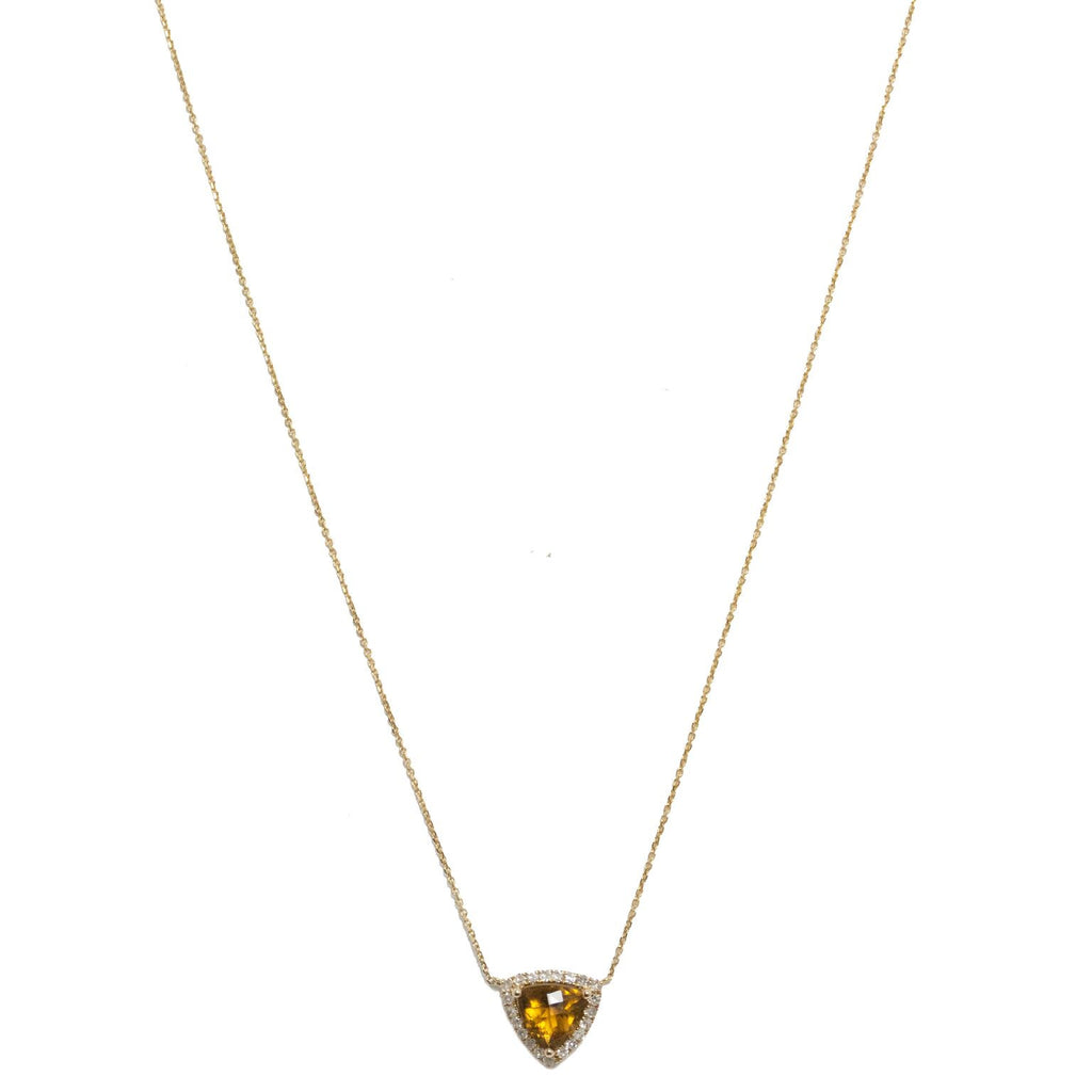 Julie Necklace Yellow Gold Whiskey Quartz