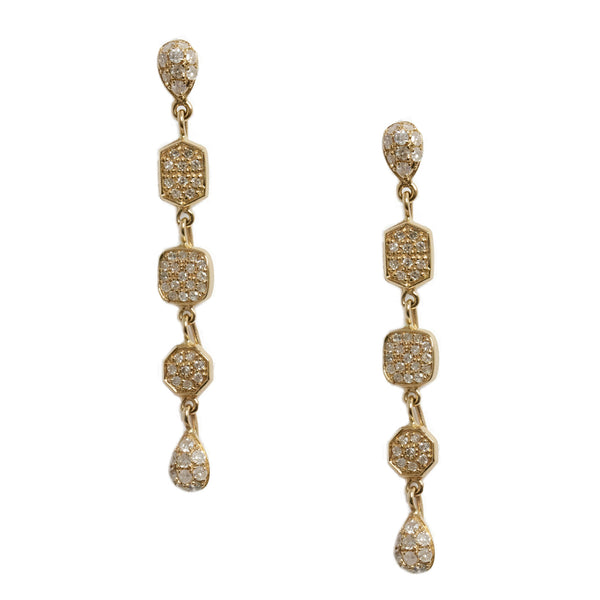 Alex Earrings Yellow Gold