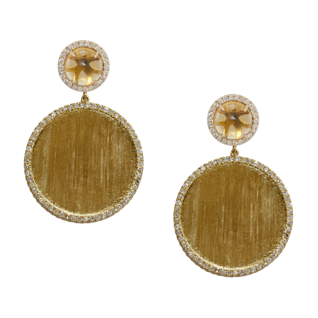 Annabelle Earrings Yellow Gold Citrine