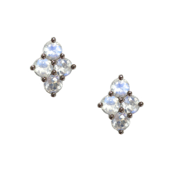 Asher Studs Silver Moonstone
