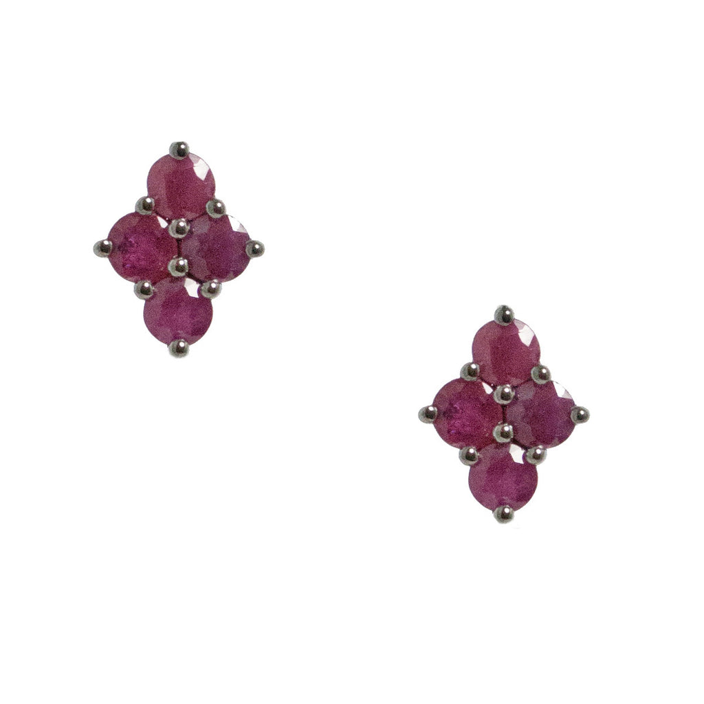 Asher Studs Silver Ruby