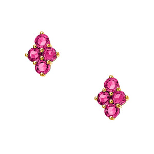 Asher Studs Yellow Gold Ruby