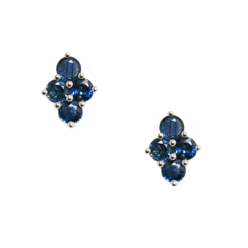 Asher Studs Silver Sapphire