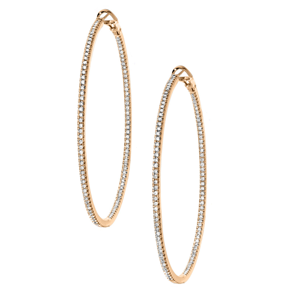 Mary Hoops Large Rose Gold