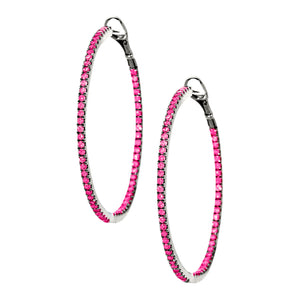 Mary Hoops Silver Ruby 1.5mm