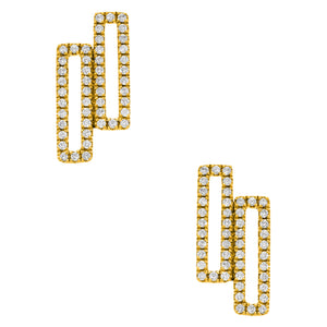 Raquel Studs Yellow Gold