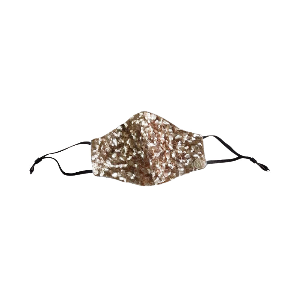 Macy Sequined Mask Gold