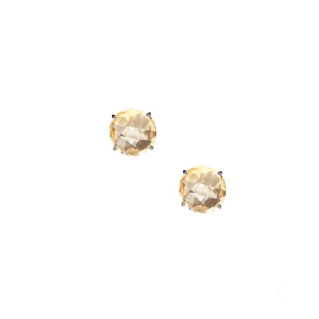 Gemma 12mm Studs Citrine