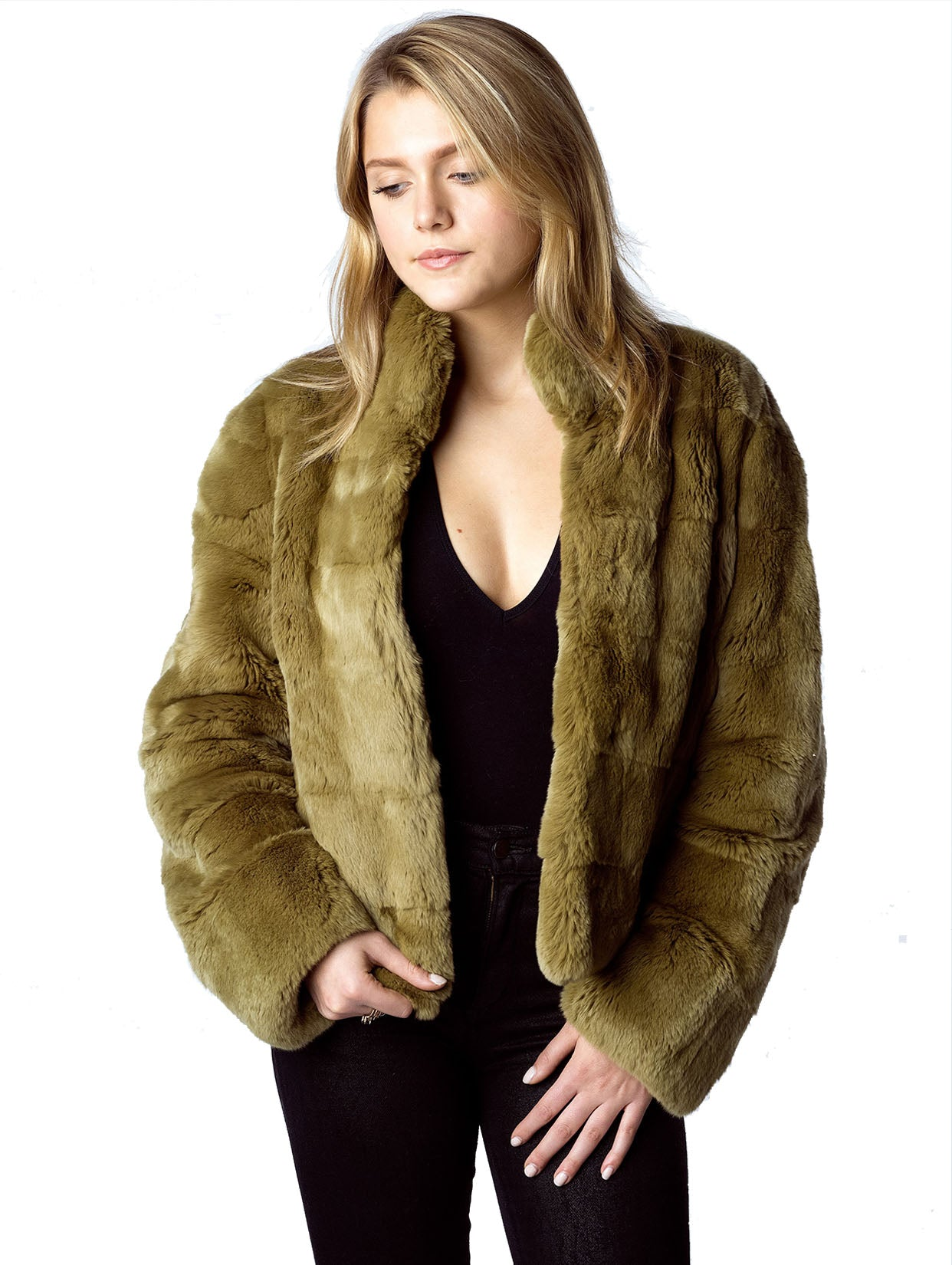 Heather Jacket Faux Fur