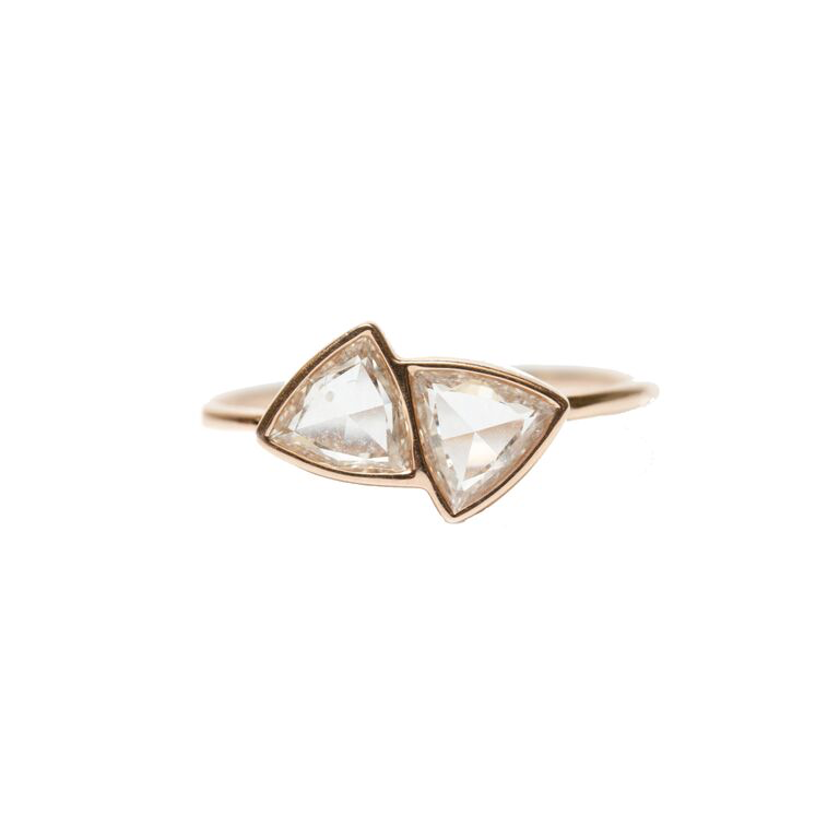 Trisha Ring Rose Gold Rose Cut Diamond