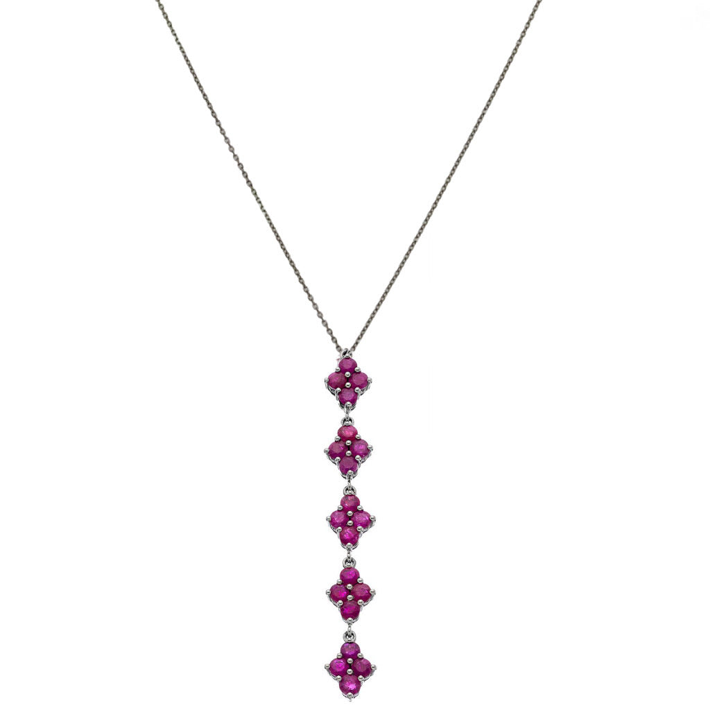 Asher Necklace Silver Ruby