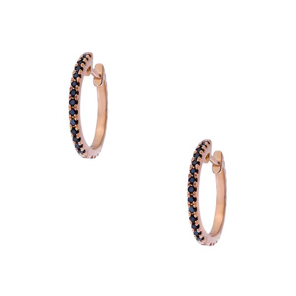 Lillian Rose Gold Black Diamond 1mm