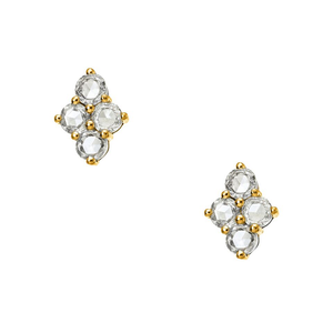 Asher Studs Yellow Gold Rose Cut Diamond
