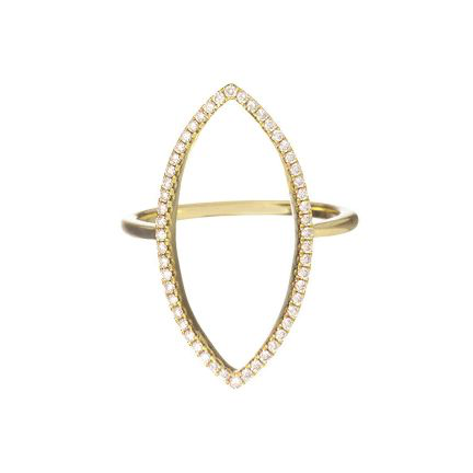 Mary Navette Ring Yellow Gold