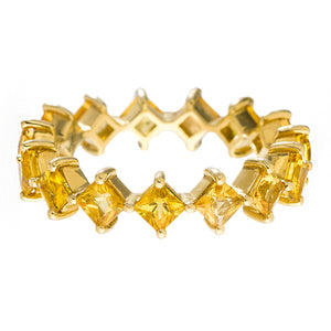 Jo Band Yellow Gold Yellow Sapphire