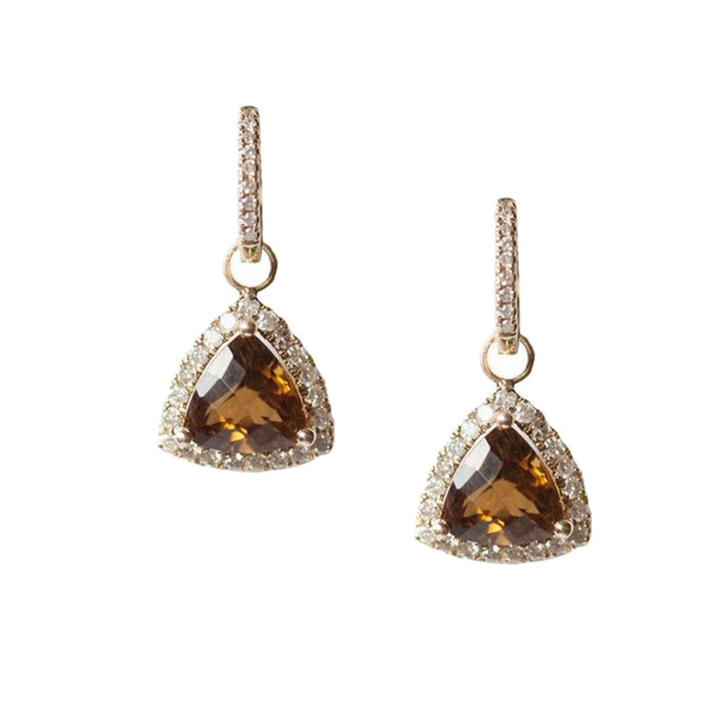 Julie Earrings Yellow Gold Whiskey Quartz