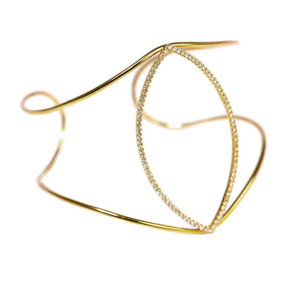 Mary Navette Cuff Yellow Gold