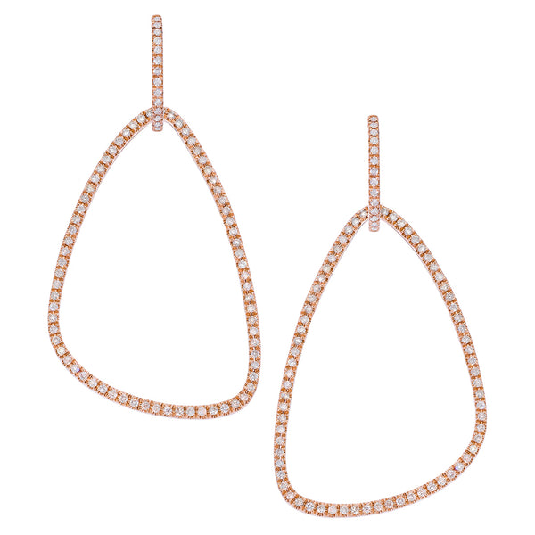 Veronica Ear Drops Rose Gold