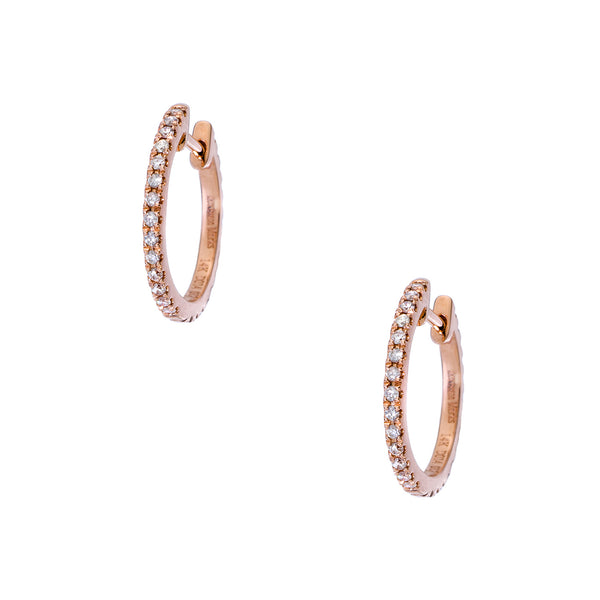 Lillian 1mm Double Sided Rose Gold Huggies
